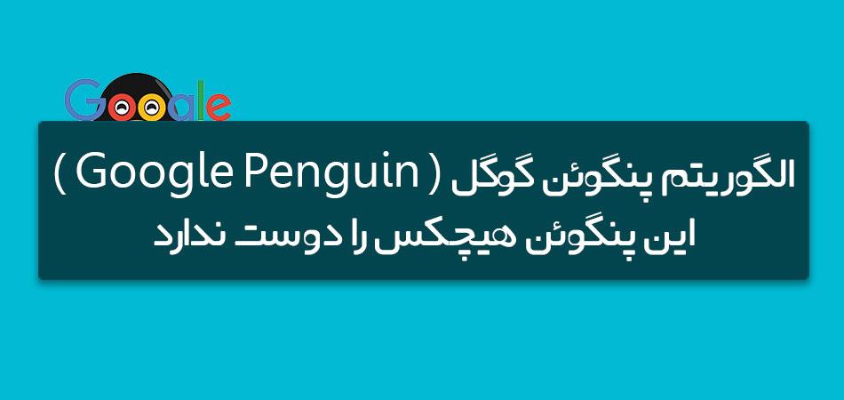 الگوریتم پنگوئن گوگل ( Google Penguin ) ، این پنگوئن هیچکس را دوست ندارد